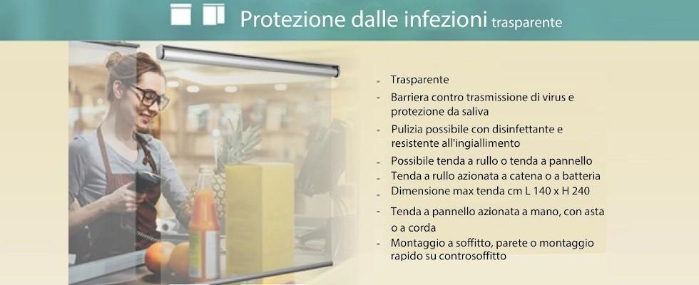 Protezione dalle infezioni trasparente